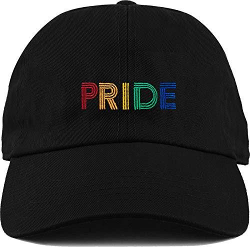 H-214-PRIDE06 LGBTQ Dad Hat Unconstructed Baseball Cap: Pride, Black