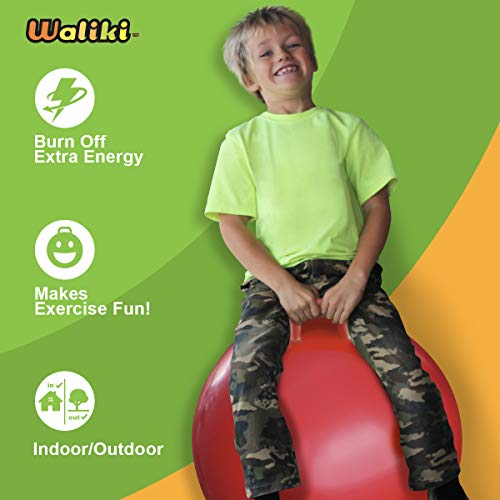 Image of WALIKI Hopper Ball for Kids 7-9   Jumping Ball   Hippity Hop   Bouncy Ball   Field Day Races Red 20