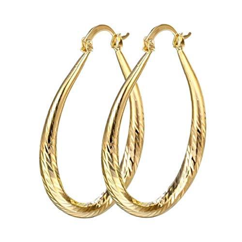 Berrywho 1 Pendientes Parejas Femenino Elegante 18k Gold Filled joyería Prisionero del aro cuelga el Pendiente de la Boda