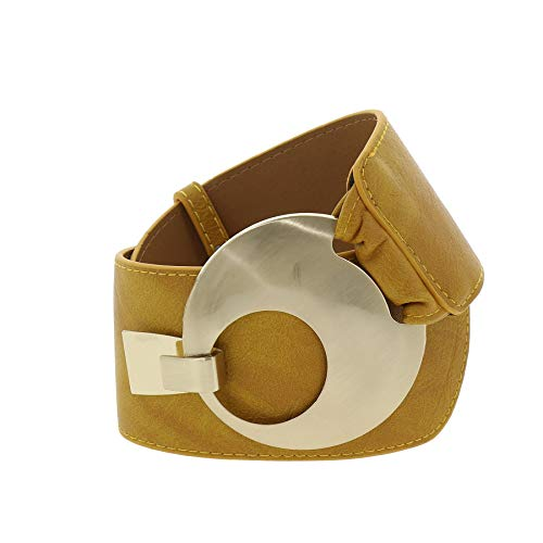 FASHIONGEN - Cinturón ancho para mujer VANESSA - Camello claro, XL a XXL/Pantalones 45 a 55
