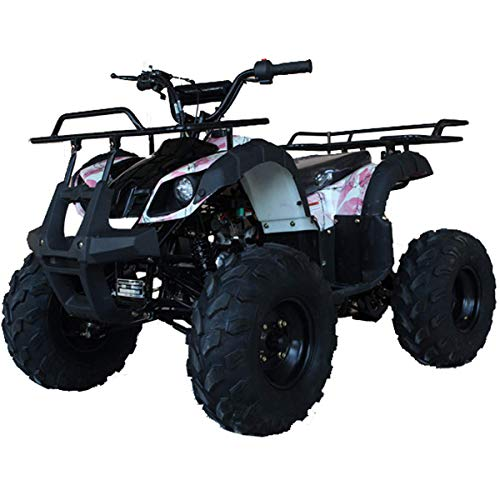 X-PRO ATV 4 wheelers for Sale 125cc ATV Quad Four Wheelers Youth ATV 4 wheelers with Remote Control,Big 16'' Tires with Gloves, Goggle and Handgrip (Pink Camo)