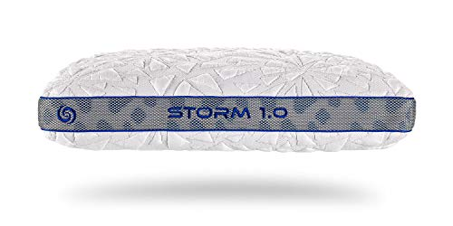 Bedgear Storm Performance Pillow - Instant Cooling - Removable, Washable Cover - Four Pillow Heights for Back, Stomach, Side, and Multi-Position Sleepers - Storm 1.0