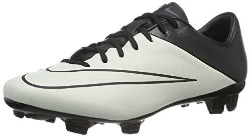Nike Herren Mercurial Veloce II LTHR FG Fußballschuhe, Weiß/Schwarz (Light Knochen/Schwarz-Schwarz), 38,5 EU