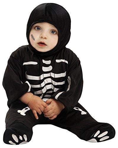 Disfraz mono de esqueleto para bebés