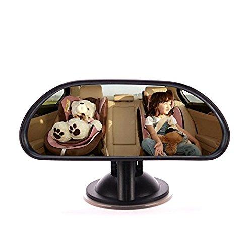 ZYTC Espejo retrovisor para asiento trasero de coche, gran angular, irrompible, ajustable, asiento de seguridad para bebés y niños, con ventosa