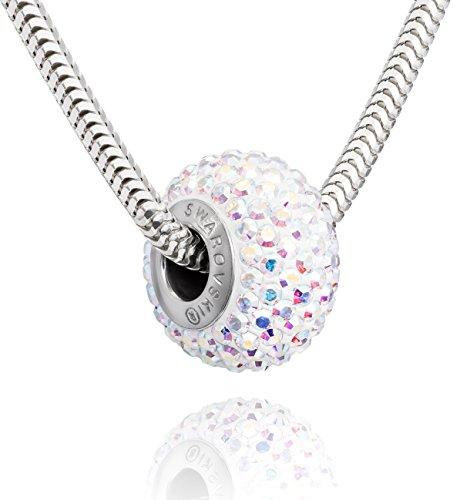 LillyMarie Damen Hals-Silberkette Sterling-Silber 925 original Swarovski Elements Beads crystal Schmuck Etui Geschenk beste Freundin Schmuck