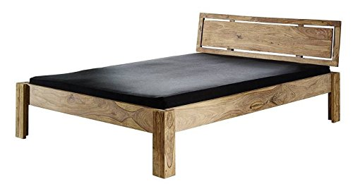 MASSIVMOEBEL24.DE Sheesham Massivmöbel geölt Bett 200x200 Palisander Holz massiv Massivholz Nature Brown #523