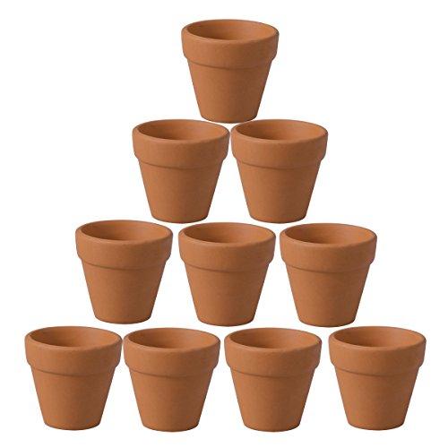 Ounona, mini vasi in terracotta e ceramica, 10 pezzi, vasi per fiori e piante grasse, ideali per piante, artigianato, bomboniere, 4,5 x 4 cm
