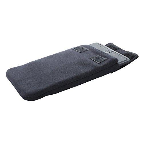 eBook Reader Tasche aus Baumwolle passend für PocketBook Touch Lux 2 3 - Tolino Shine Vision 2 3- Hülle in schwarz