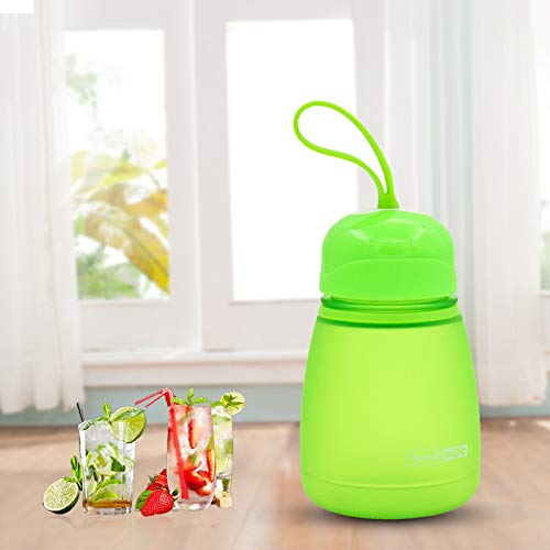 PENGDONG Durable 308ml Kunststoff-Schraube Top Kind Niedlich Wasserflasche (Pink) taizhan Wiederverwendbar (Color : Green)