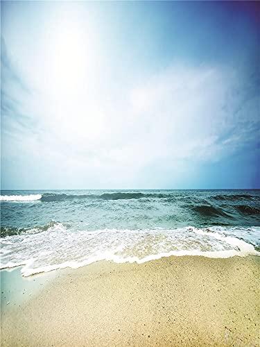 Fondo de fotografía Playa y patrón de Cielo Azul Fondo de fotografía Fondo de fotografía de Vinilo A5 10x7ft / 3x2.2m
