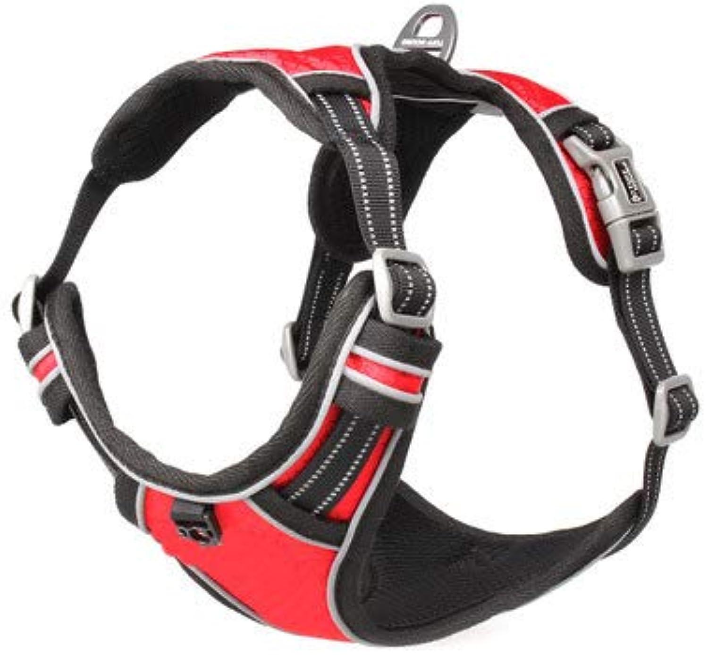 CHEN. Pet chest straps  pet chest strap dog leash dog chain supplies explosionproof pet supplies,Red,XL