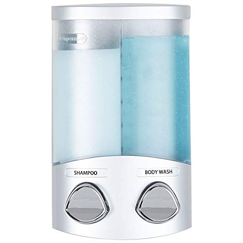 Better Living Products 762341 DUO 2Chamber Dispenser Satin Silver