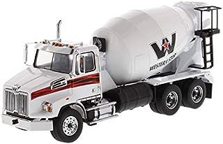 Diecast Masters Western Star 4700 SB Concrete Mixer Truck White 1/50 Diecast Model 71035