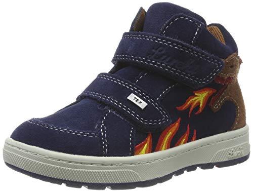 Lurchi Jungen Dino-TEX Hohe Sneaker, Blau (Navy 22), 31 EU