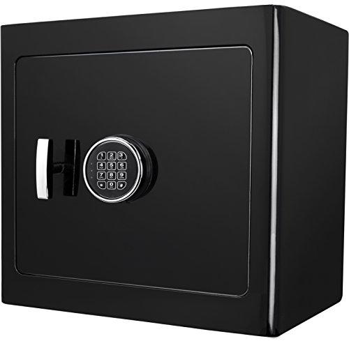 Barska Digital Keypad Fireproof Jewelry Safe 1.01 Cubic Ft, One Size, Black AX13106