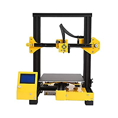 DERTHWER 3D Printer, Industrial Grade Mini 3D Printer Desktop Education Grade DIY 3D Printer with Resume Printing Function Commercial Industrial Supplies Yellow Home Office Printer