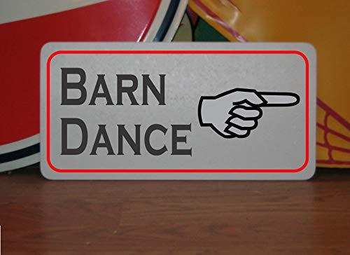 PotteLove Barn Dance Metal Sign for Kitchen Restaurant Food Truck Concession Trailer Stand Cart Convenience Store Shop Farm Market Vintage Aluminum Metal Signs Tin Plaque 12