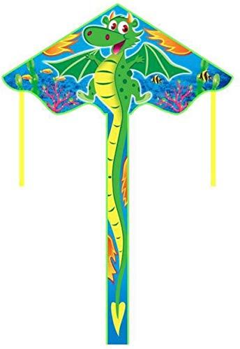 Forte e Robusto Aquilone, Bambini Kite Belle Aquiloni for Kids Facile da pilotare for la Spiaggia di Nylon Esterna Ripstop Albatross Scheletro Duro (Colore: Verde) (Color : Dragon)