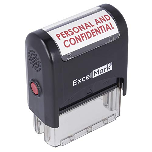 Personal and Confidential - ExcelMark Self-Inking Rubber Stamp - Red Ink