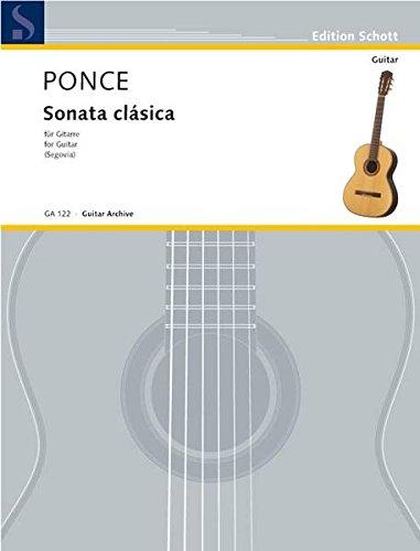 Sonata clásica: (Hommage à Sor). Gitarre. (Edition Schott)