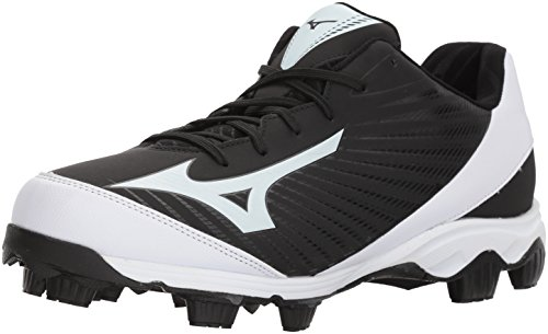 Mizuno Herren 9-Spike Molded Cleat-Low Advanced Franchise 9, geformte Baseball-Schuhe, 9 Noppen, niedriger Schaft, schwarz/weiß, 39 EU