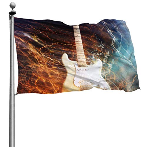 Like-like Camping Yard Flags Jazz Rock Cool Guitarra eléctrica para niño Holiday...