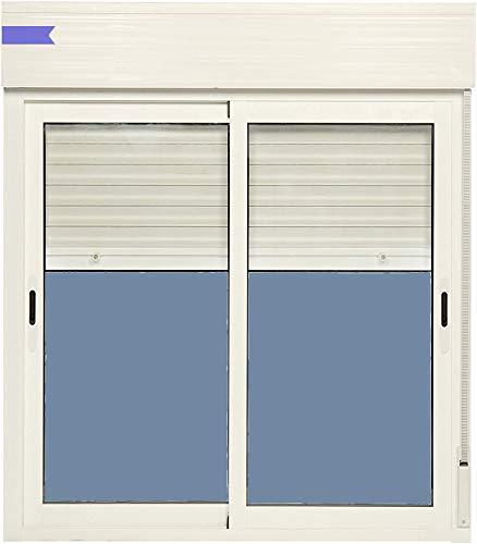 Ventana Aluminio Corredera Con Persiana PVC 1000 ancho × 1355 alto 2 hojas