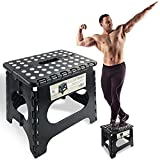 Spranster Super Strong Folding Step Stool - 11' Height - Holds up to 300 Lb - The Lightweight Foldable Step Stool is Sturdy Enough to Support Adults and Safe Enough for Kids
