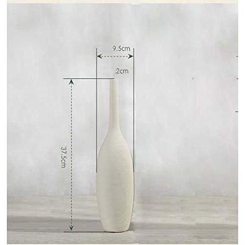 Vase Porzellan Moderne Keramik Weiße Vase Ornamente Kreative Heimdekoration Tischvase Handgemachtes Kunsthandwerk WhiteSmall