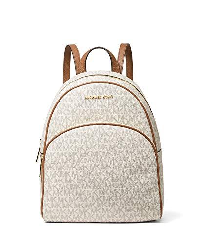 MICHAEL Michael Kors Abbey Fashion Backpack, Vanilla/Acorn