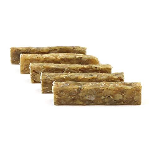 DOGBOSS 100% Natur Kauriegel, Hundeleckerli, gesunder Hundesnack, Rinderhaut mit Pansen, 5 Stück 12 cm