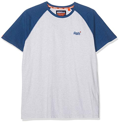 Superdry Label S/s Tee Pull sans Manche, Gris (Ice Marl 54g), XX-Large (Taille Fabricant: 2XL) Homme