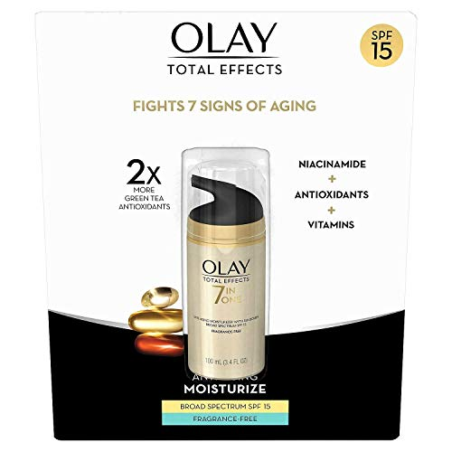 Olay Total Effects 7-in-1 Anti Aging Fragrance Free SPF-15 Large Size 3.4 fl oz! NEW FORMULA!