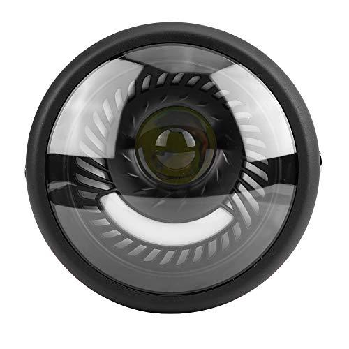 Faro de motocicleta universal, faro LED de motocicleta de 6,5 pulgadas, conjunto de lámpara frontal de repuesto con luz blanca fría(1#)
