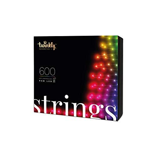 Festive Lights - Twinkly Génération II Guirlande Lumineuse Connectée (600 LED) pour...