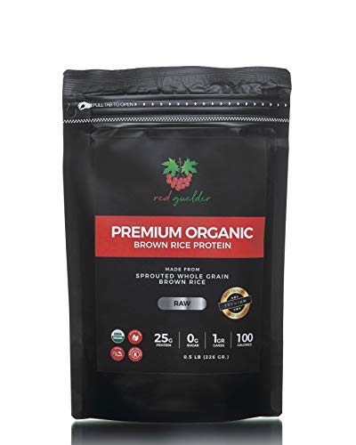 Organic Brown Rice Protein Powder - Vegan Raw Plant-Based Rice Powder - USDA Organic, Kosher, Gluten Free, Soy Free, GMO Free, Non Dairy, No Artificial Ingredients, 0.5 lb, 9 Servings