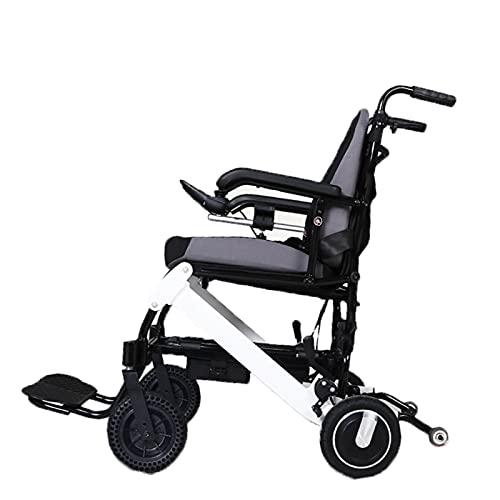 Elektrorollstuhl, Faltbarer Rollstuhl Ältere Behinderte Roller Faltbar Leichter Elektrischer Rollstuhl Hochelastischer Kissen Manuelle Feststellbremse Brushless Hub Motor ( Size : 6A has back contro )