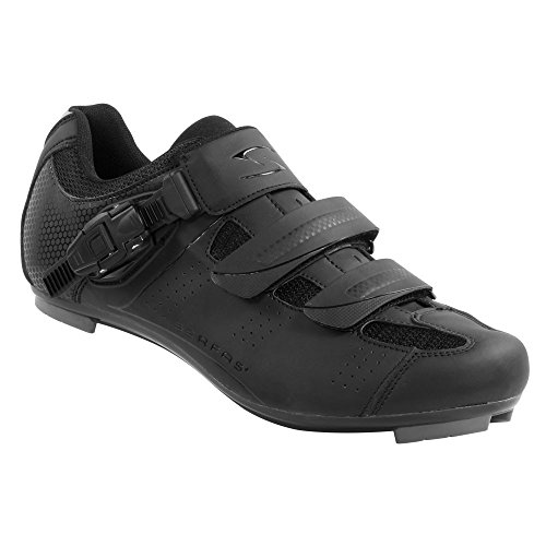 Serfas Men's Road Bike Leadout Buckle Cycling Shoes (47, Black)