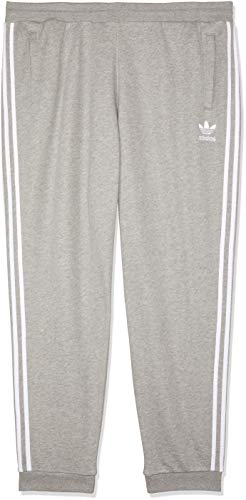 adidas 3-Stripes broek heren, medium grijs heather, 2XL