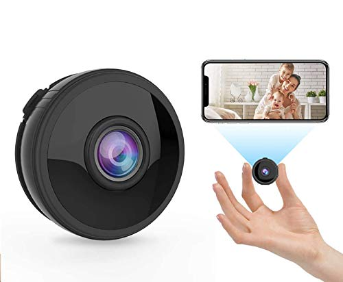 RIRGI Koiteck Cámaras Espía Oculta, Cámaras Espía WiFi 1080P HD, con IR Visión Nocturna Detector de Movimiento, Grabadora de Video, Camaras de Seguridad Pequeña para Interior/Exterior