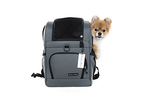 SIMPLYPETZ Pet Carrier and Backpack for Dogs and Cats (Large, Frosty Grey)