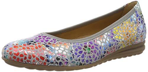 Gabor Shoes Damen Comfort Sport Geschlossene Ballerinas, Grau (Stone 24), 40 EU