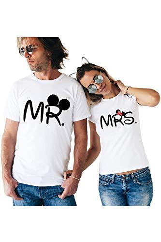 Pareja Que Empareja Mr Mrs Camisetas Regalo Camisetas Jersey Blanco Mu