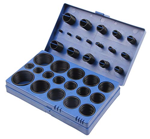 O-Ring Gummi Dichtung Sortiment, 3-50 mm, 419-teilig, Dichtring Dichtungsringe Dichtungsgummi