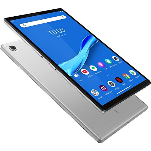 Lenovo Tab M10 FHD Plus Tablet (2nd Gen) ZA5V0259GB, 10.3', 4GB RAM, 128GB SSD, 4G LTE, Platinum Grey, ARM Cortex A53 2.30GHz 8 core, Android 9.0 Pie