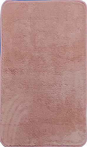 Alfombra de Salón   Alfombra Dormitorio Despacho Pelo Largo Suave y Moderna Color (Rosa, 160_x_200_cm)