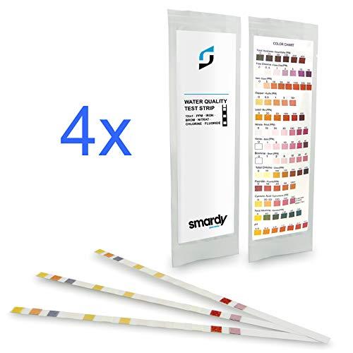 SMARDY Kit - 12x 13en1 Tiras de Prueba para Acuarios, Agua Potable, Easy Test de la Calidad del Agua