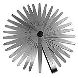 Spurtar 32 Lame Strumento di misurazione dello spessimetro in acciaio per misurare la larghezza o lo spessore della fessura