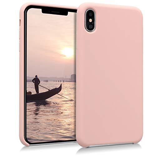 kwmobile Cover Compatibile con Apple iPhone XS Max - Custodia in Silicone TPU - Back Case Protezione Cellulare Rosa Antico